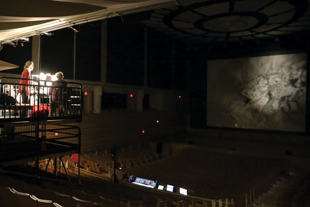 projecting in the concert hall