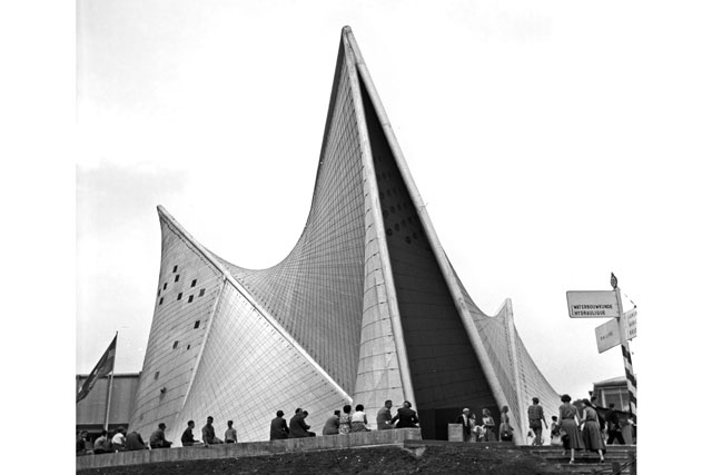 an extremely pointed structure from EXPO 58