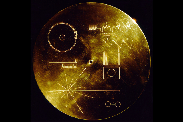 The Sounds of Earth Record Cover from Voyager 1 and 2.