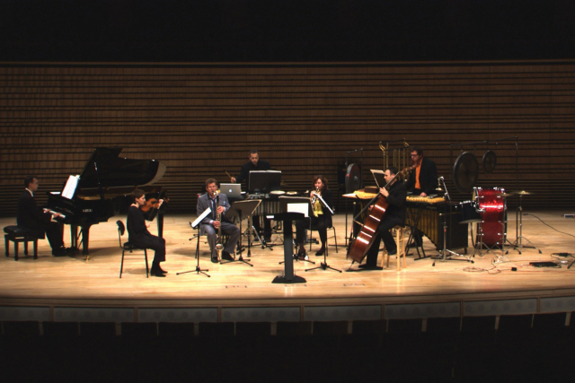 the ensemble in the concert hall