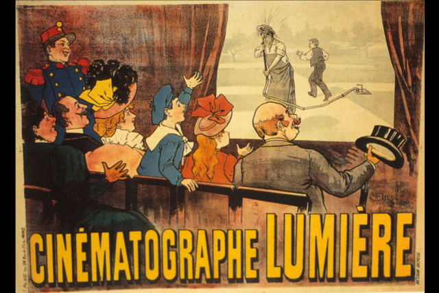 FILM POSTER FOR ARROSEUR-ET-ARROSÉ BY LOUIS LUMIERE, 1895