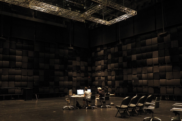 wave field synthesis array in studio 1