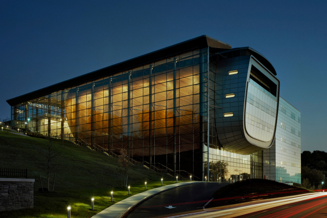 EMPAC's north Façade.
